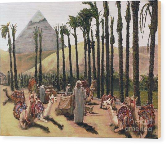 Camel Caravan Jockey Wood Print