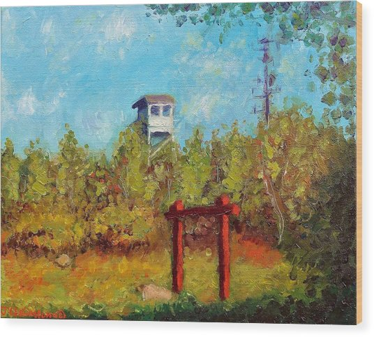 Camel Top Fire Tower Wood Print