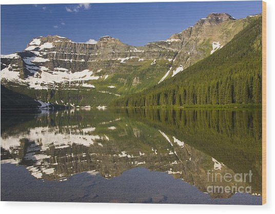 Cameron Lake Wood Print
