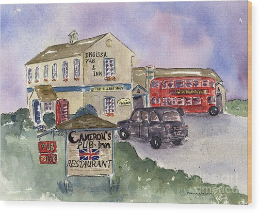 Cameron's Pub And Restaurant Wood Print