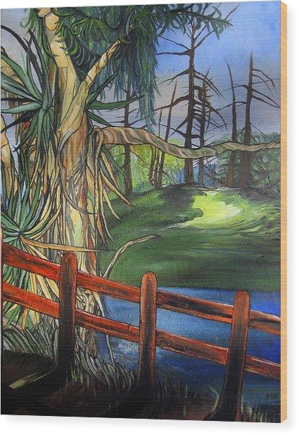 Camino Real Park Wood Print
