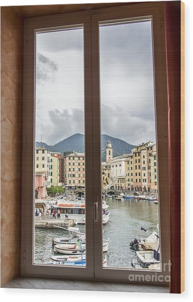 Camogli From My Window Wood Print