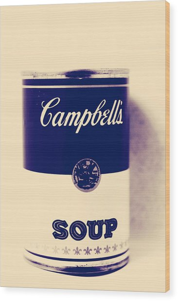 Campbells Soup Wood Print