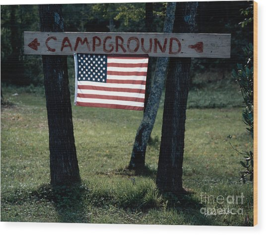 Campground 2003 Wood Print