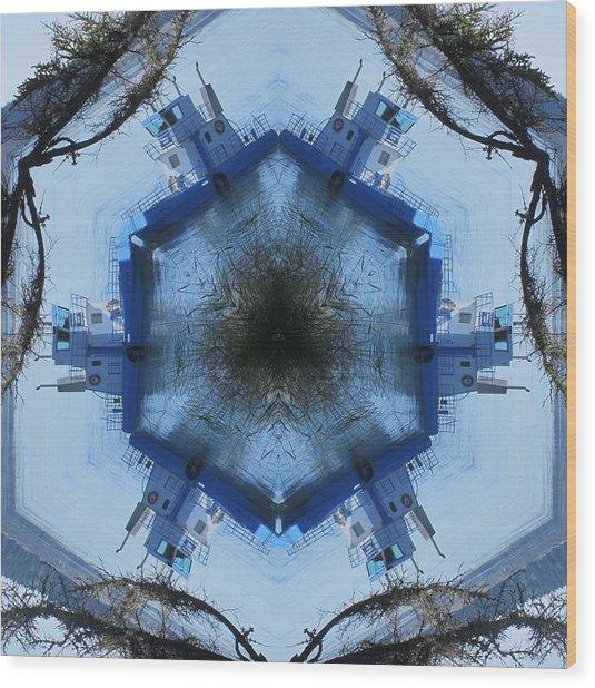 Campobello Island Blue Ferry Wood Print