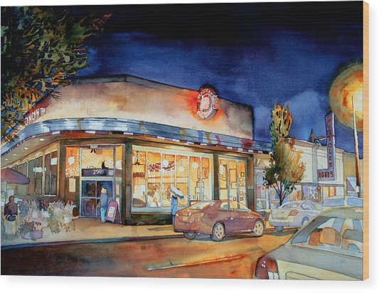 Can Can Carytown Wood Print by Jim Smither