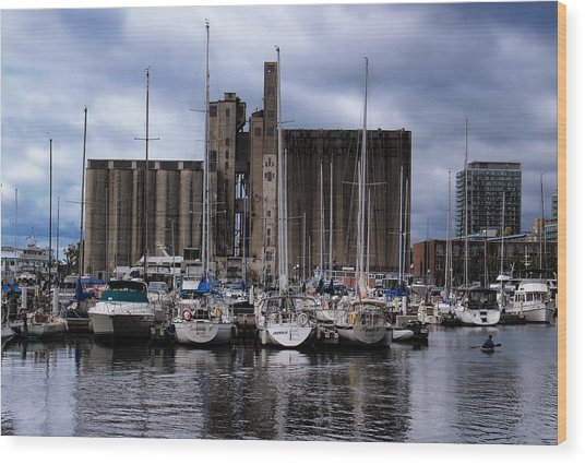 Canada Malting Silos Harbourfront Wood Print
