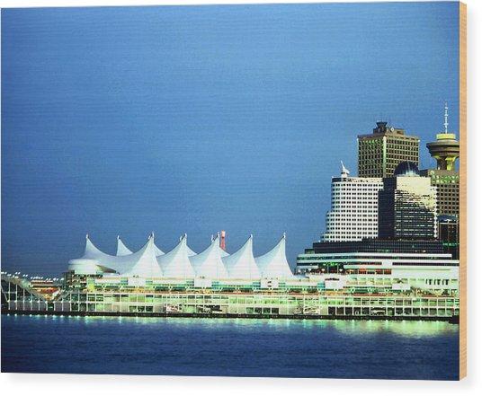 Canada Place Pavilion Wood Print