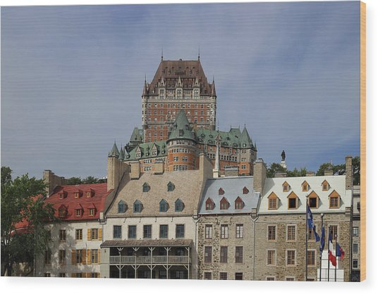 Canada, Quebec City, Chateau Frontenac Wood Print by Buena Vista Images