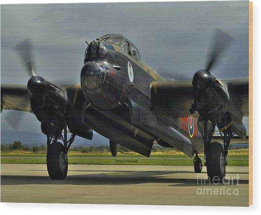 Canadian Avro Lancaster Bomber Wood Print