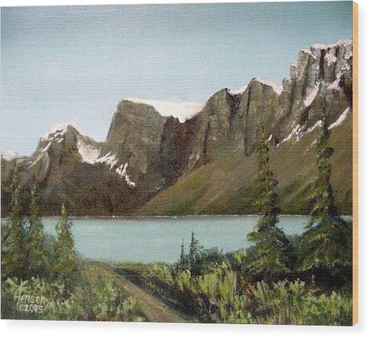 Canadian Lake Wood Print
