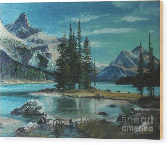 Canadian Landscape  Wood Print