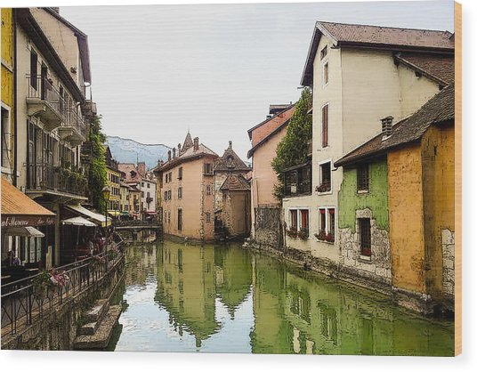 Canal View Number 1 Annecy France Wood Print