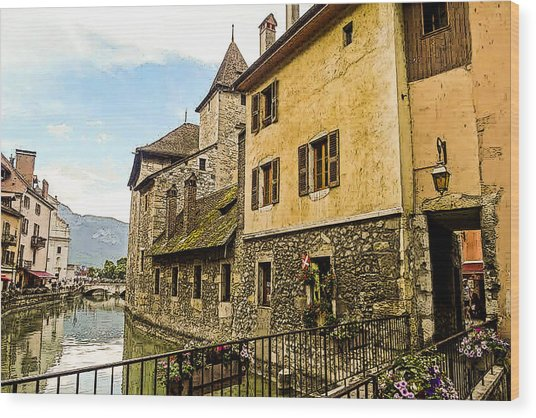 Canal View Number 2 Annecy France Wood Print