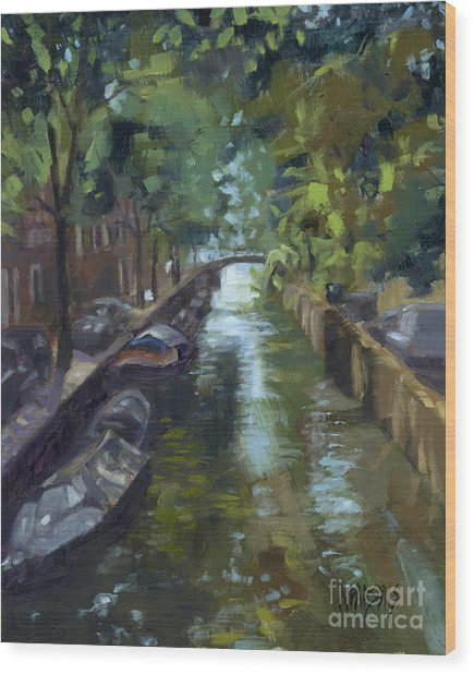 Sold Canals Of Coexistence Wood Print