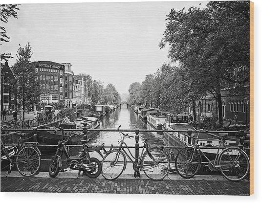 Canals Wood Print