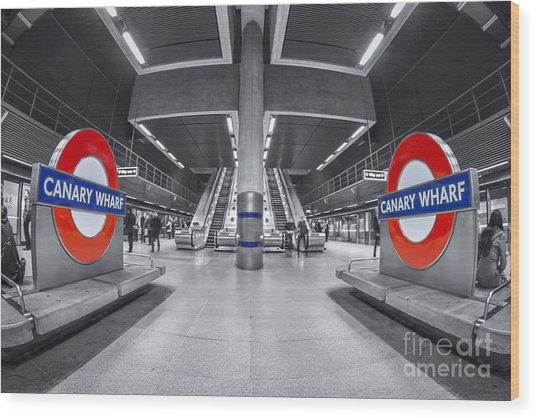 Canary Wharf Wood Print