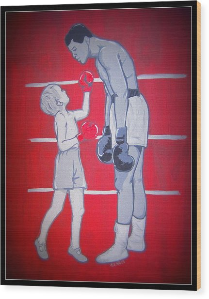 Candid Ali Shot Wood Print by Gary Niles
