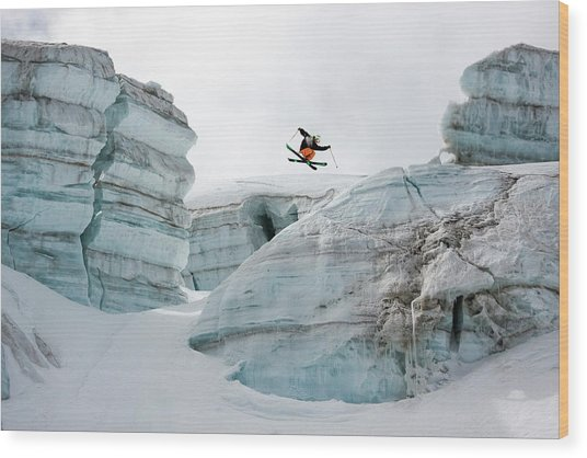 Candide Thovex Out Of Nowhere Into Nowhere Wood Print