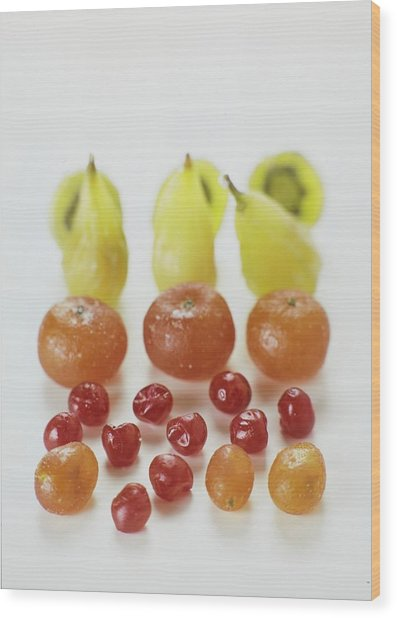 Candied Fruit Wood Print