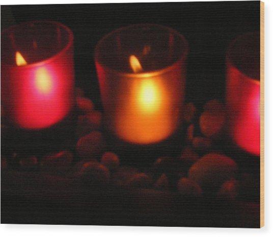 Candle Magick Wood Print