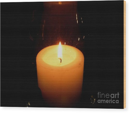 Candlelight Moments Wood Print