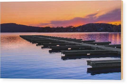 Candlewood Lake Wood Print