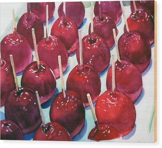 Candy Apples Wood Print