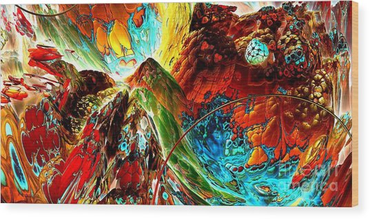 Candy Moutain Wood Print by Bernard MICHEL