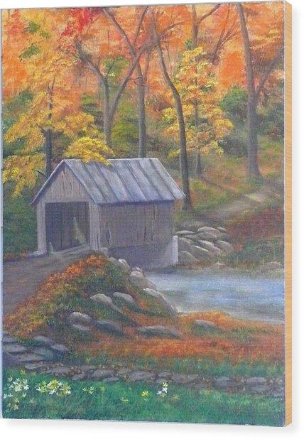 Caney Creek Wood Print