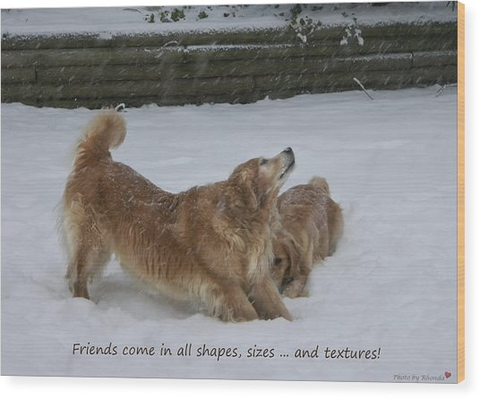 Canine Friends Wood Print