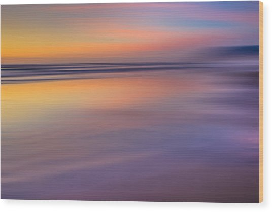 Cannon Beach Abstract Wood Print