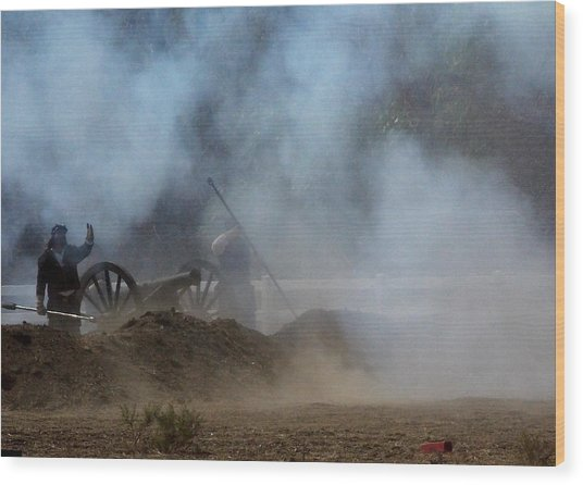 Cannon Fire 3 Wood Print by Chuck Kemp