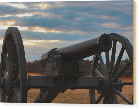 Cannon Of Manassas Battlefield Wood Print