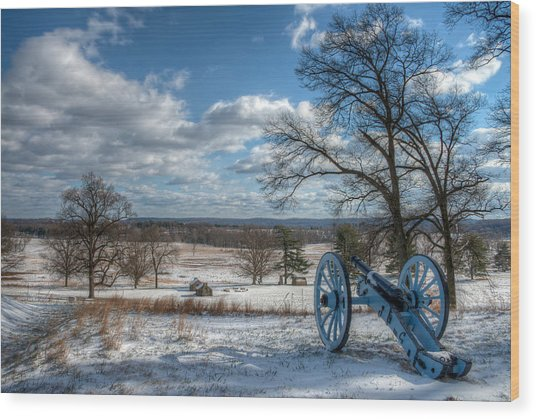 Cannon Overlooking Valley Forge National Historic Park Wood Print