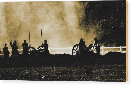Cannon Ready 3 Wood Print by Chuck Kemp