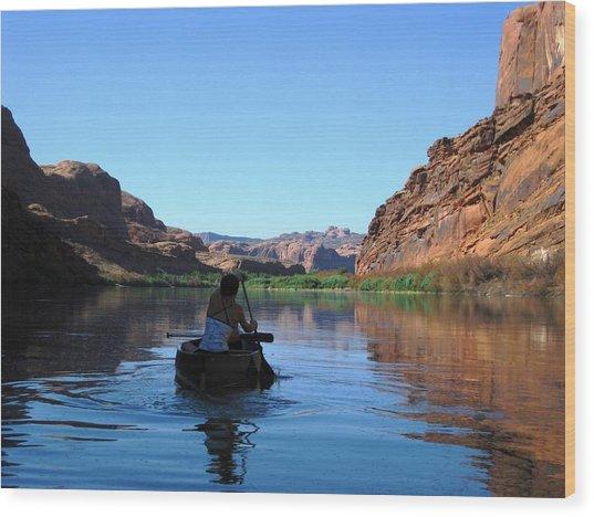 Canoe Trip Wood Print