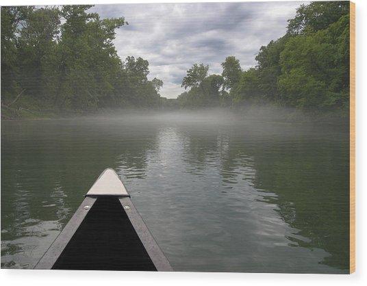 Canoeing The Ozarks Wood Print