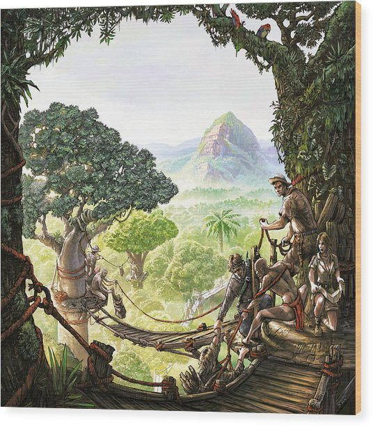 Canopy Walk Cover Art Wood Print