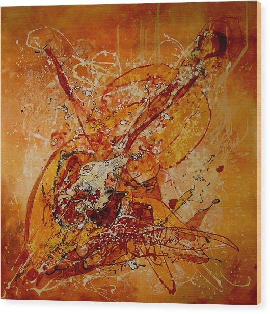 Canta Un Stradivarius Wood Print by Elena Bissinger