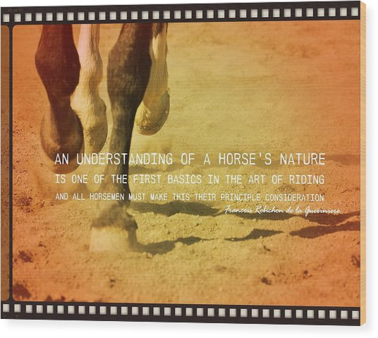 Cantering Along Quote Wood Print by JAMART Photography