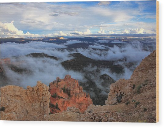 Canyon Clouds Wood Print