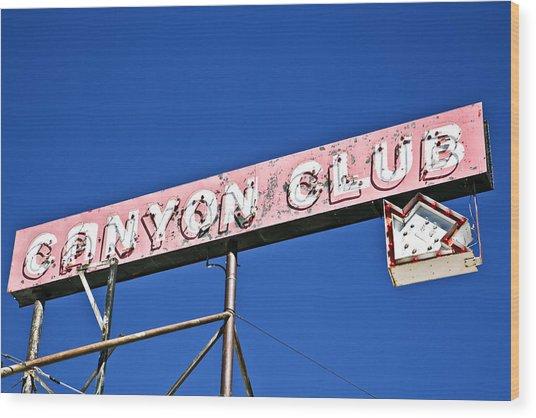Canyon Club Wood Print