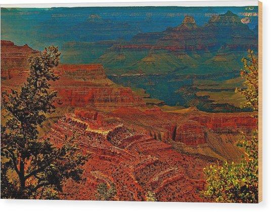Canyon Colours Show Through Wood Print