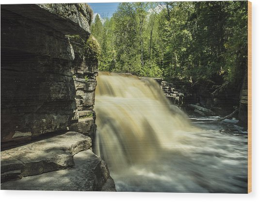 Canyon Falls Wood Print