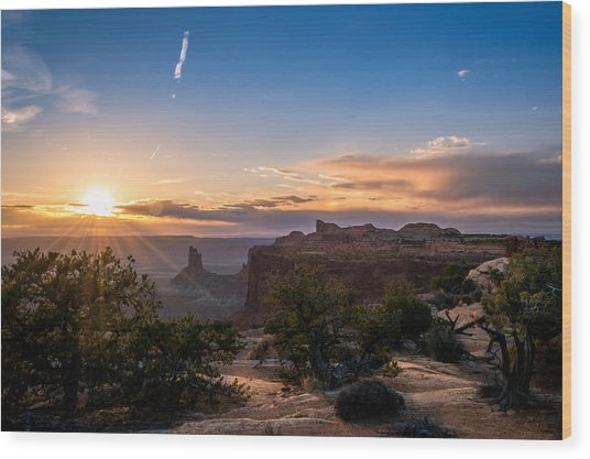 Canyon Lands Beautiful Sunset Wood Print