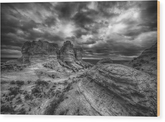 Canyon Light And Clouds Wood Print by Garett Gabriel