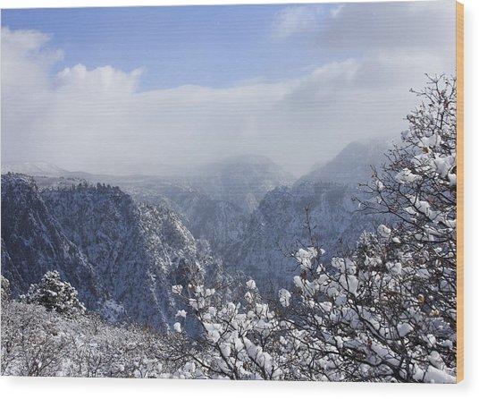 Canyon Mist Wood Print