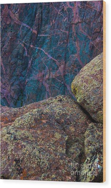 Canyon Rock Abstract Wood Print