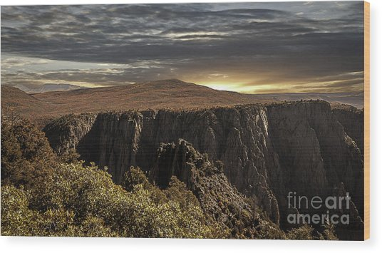Canyon Twilight Wood Print